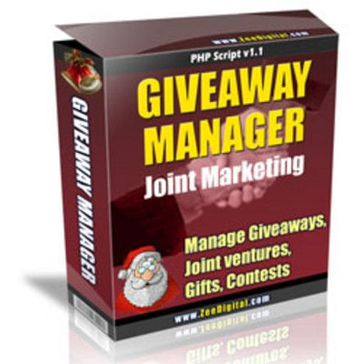 Product picture New Giveaway Manager Joint Marketing Script with MRR