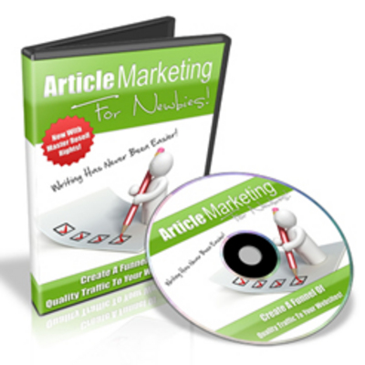 Product picture Article Marketing For Newbies - Video Series